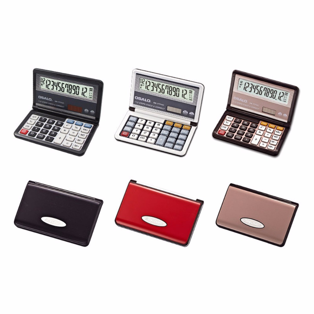 Ручной силикона научные мульти-функция калькулятора складной карманный калькулятор солнечный Калькуляторы для студентов школы бизнеса
