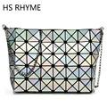 HS RHYME Female Crossbody Diamond Lattice Fold Over Bags Small Women Handbags Chain Shoulder Bags Bolsa 5*8