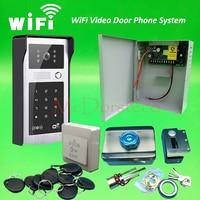 Android ISO App WIFI Video Door Phone RFID Code Keypad Doorbell Electric Rim Lock System Back