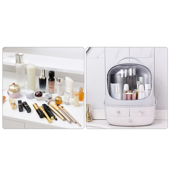 Japanese-style Large Capacity Cosmetics Storage Box Makeup Jewelry Skin Care Product Storage Organizer with Dust Cover J11 4