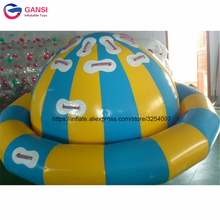 цена на Water exciting human rides saturn rocker gyroscope inflatable floating spinner for water park