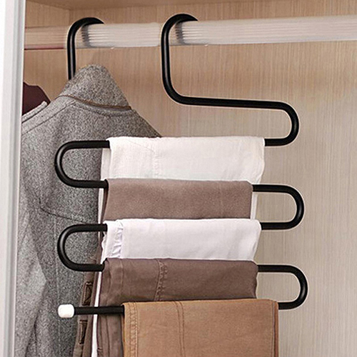 Creative S Shape Pants Hanger Multi-role Wearing Clothes Rack Multilayer Holder
