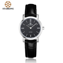 STARKING Luxury Brand Watch font b Women b font Quartz Watches Female Leather Sapphire Dress Wrist