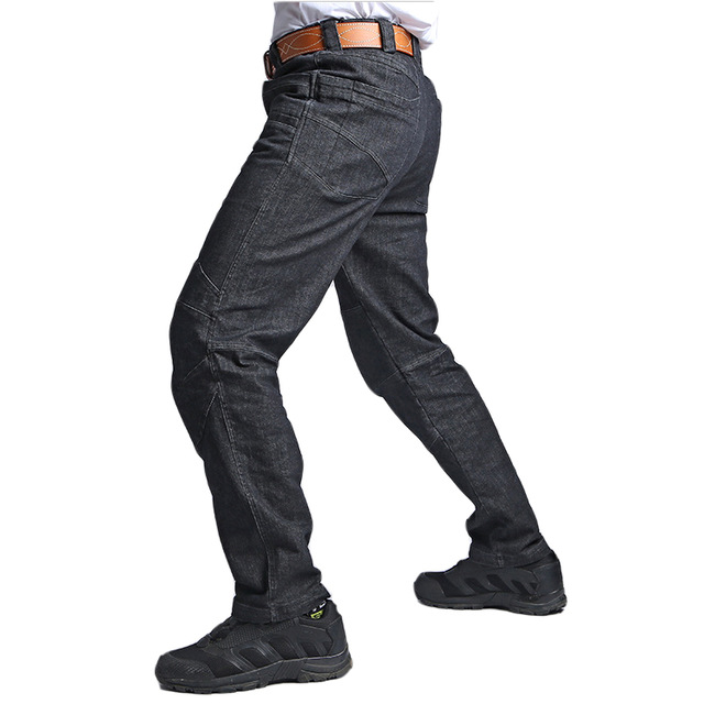5f78bc99da S.ARCHON Military Camping Jeans Men Casual Multi Pocket Stretch Tactical  Pants Motorcycle Trouser Slim Fit Denim Hiking Jeans