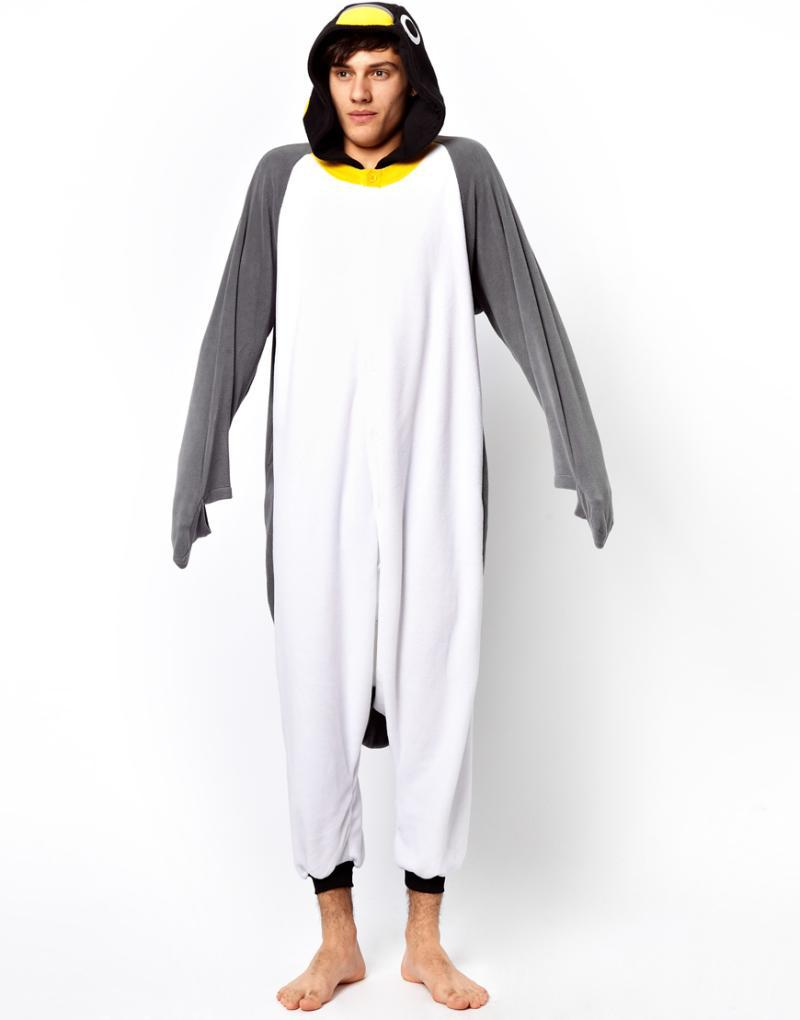 dc4c810efe2e Animal Gray Grey Penguin Adult Unisex Onesie One Piece Cosplay Winter  Spring Costume Cos Party Pajamas Halloween Dresses