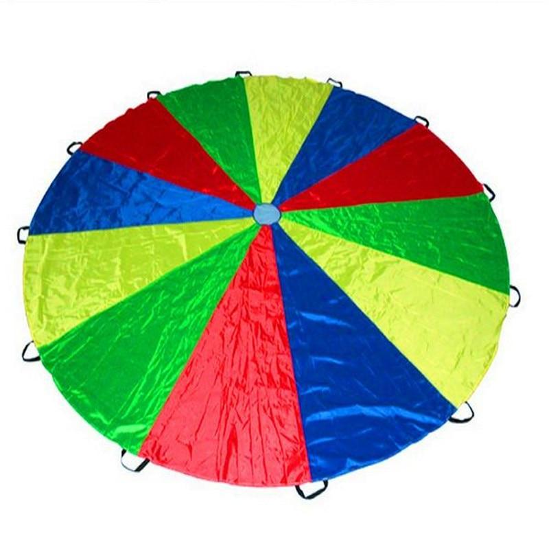 Best Deal 2m Child Outdoor Rainbow Umbrella Parachute Toy Kindergarten Parent-Child Umbrella Rally Amusement Park Playground
