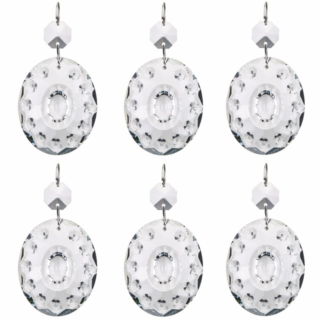 Hd 50mm 5pcs oval glass k9 crystal prisms suncatcher pendants hd 50mm 5pcs oval glass k9 crystal prisms suncatcher pendants chandeliers parts garland chakra spectra lustres aloadofball Gallery