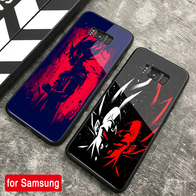 Dragon ball Z Hard Back Tempered Glass Case Cover for Samsung Galaxy Models