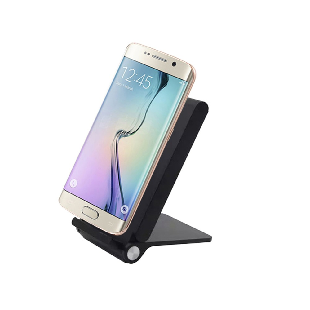 3 Three Coils Qi Wireless Charger Original Folding Charging Stand Pad For Samsung S6 S7 Note