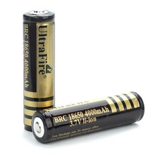 2pcs/lot 18650 batteries High Quality 18650 4000mAh 3.7V PCB Protected Rechargeable Li ion Batteries
