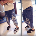 baby kids 80 cm - 120 cm height child hip hop  swag ripped vintage washed jeans sweatpants fashion boys