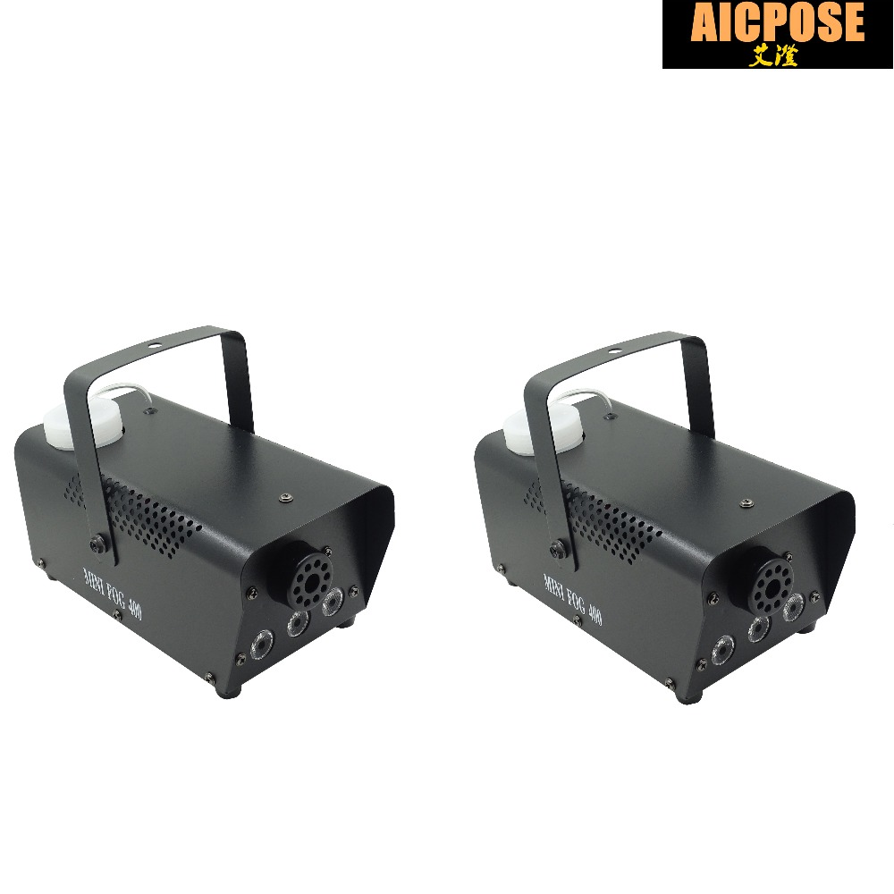 2pcs/lots RBG Led fog machine remote control Mini 400W smoke machine professional DJ lighting equipment light effects