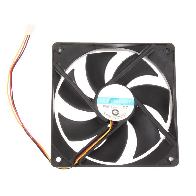120mm 120x25mm 12V 3Pin DC Brushless PC Computer Case Cooler Cooling Fan Low Noise For CPU Radiating For Desktop PC 75mmx30mm dc 12v 0 24a 2 pin computer pc sleeve bearing blower cooling fan 7530 r179t drop shipping