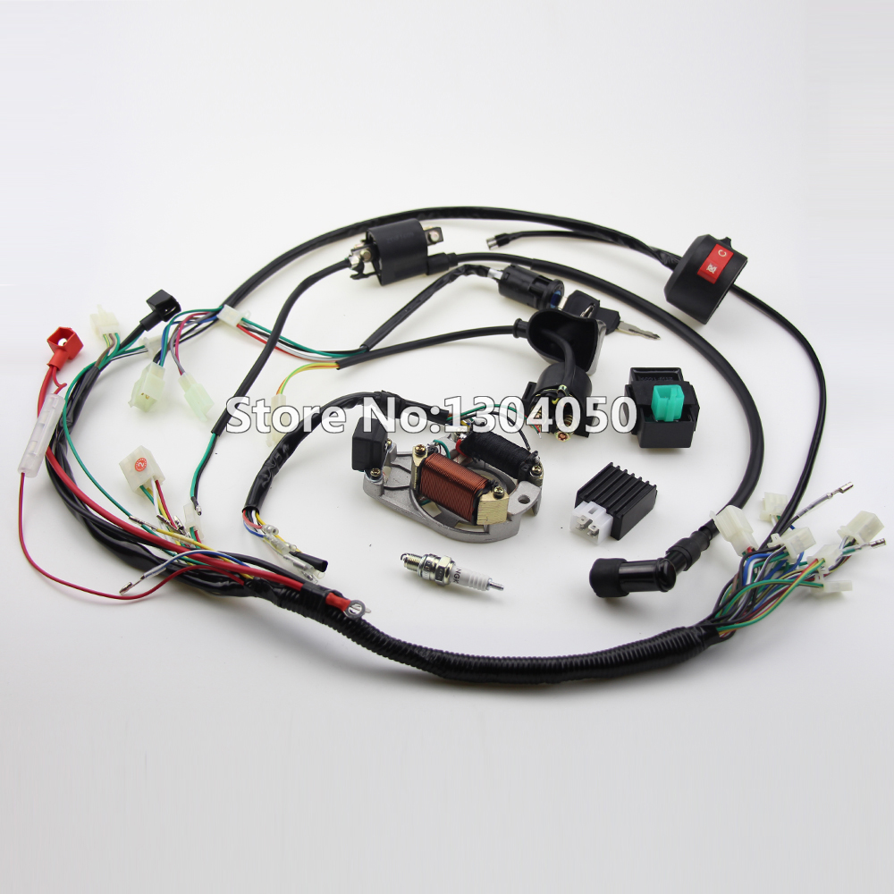 online get cheap atv wire harness aliexpress com alibaba group complete electrics atv klx stator 50cc 70cc 110cc 125cc coil cdi ngk spark plug wiring harness quad buggy shipping