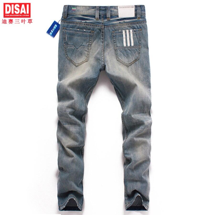 Men s fashion wolf print stretch denim jeans Slim black painted straight pants Long trousers