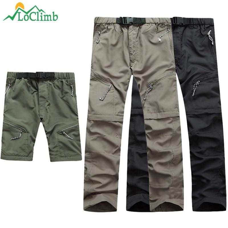 LoClimb Su Geçirmez Ayrılabilir Yürüyüş Pantolon Erkekler Dağ - Spor Giyim ve Aksesuar