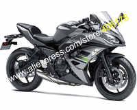 Hot Sales,Body Kit For Kawasaki Ninja 650R 2017 2018 ER-6F 17 18 ER6F 650 Black Gray Bodyworks ABS Fairings (Injection molding)