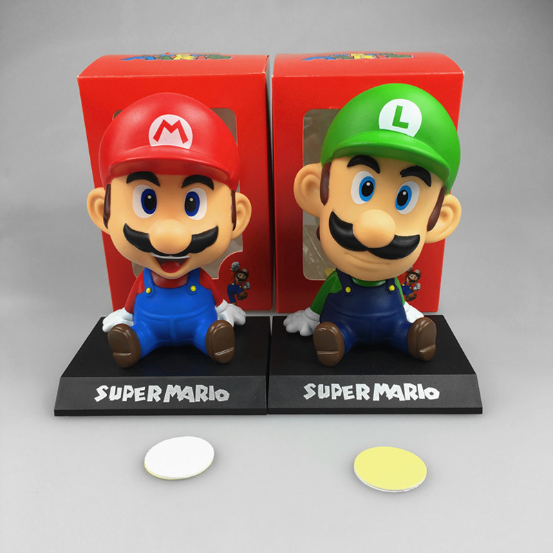 Image 5 - Funny Super Mario Bros Car Dolls Head Shaking Toy Model Lovely Car Ornaments Auto Interior Decoration Accessories Kids Gift 2019-in Ornaments from Automobiles & Motorcycles