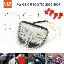 Motorcycle Integrated LED Tail Light Brake Turn Signal Blinker For Suzuki GSXR600 GSXR750 2006 2007 GSX-R600 GSX-R750 motorcycle integrated led tail light brake turn signal blinker for suzuki gsxr1300 hayabusa gsx1300r 2008 2013