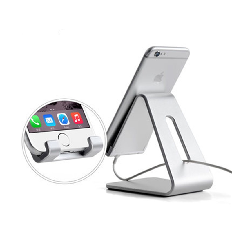 Universal Aluminum desk phone holder stand for iPhone X 6 7 8 Samsung s8 huawei sony xiaomi redmi 4x Android Phone Tablet office