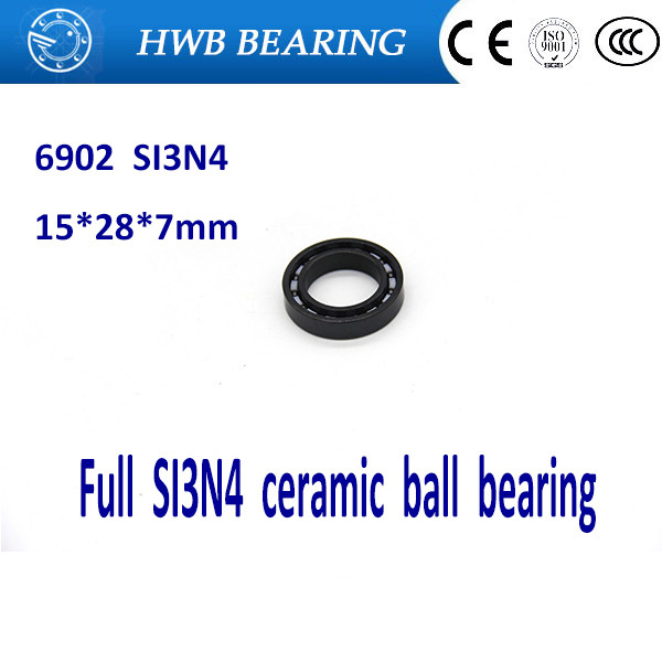 Free shipping 6902-2RS 61902-2RS full SI3N4 P5 ABEC5 ceramic deep groove ball bearing 15x28x7mm 6902 2RS free shipping 6902 full si3n4 ceramic deep groove ball bearing 15x28x7mm full complement 61902