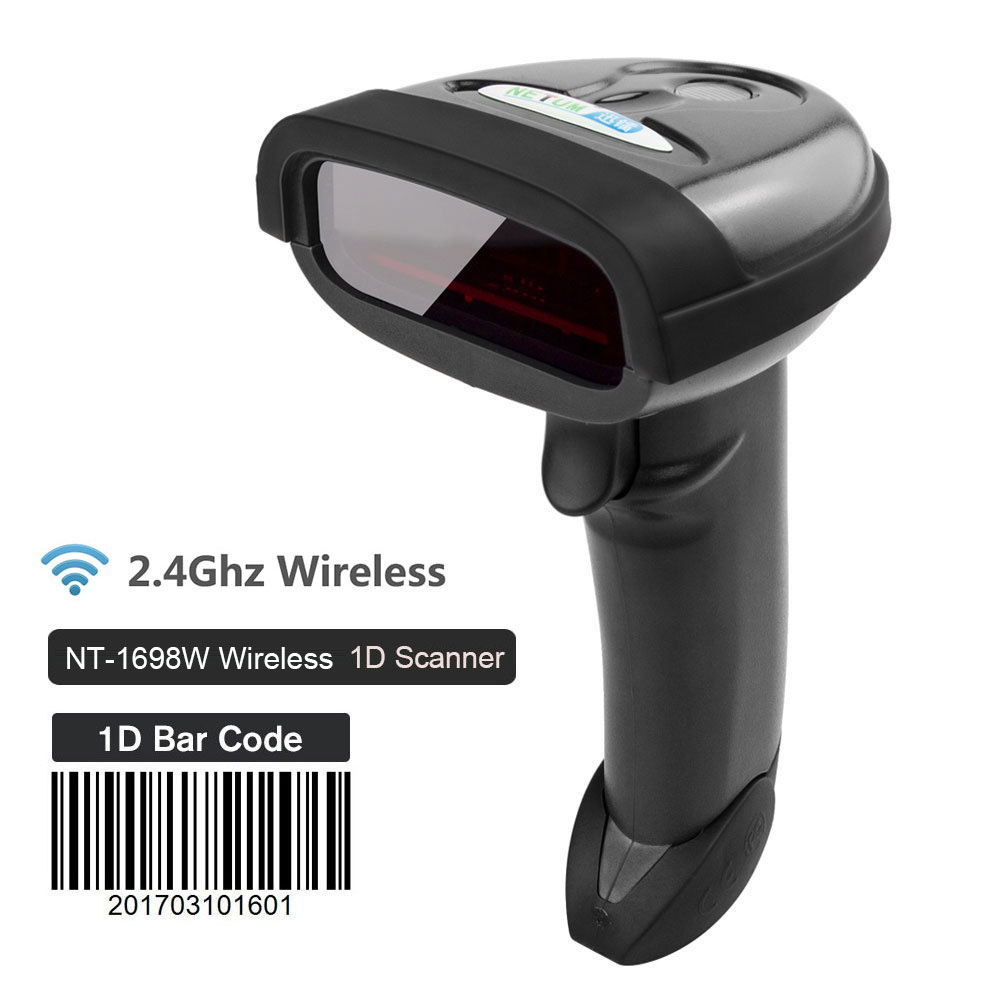 lowest price NETUM NT-1698W Handheld Wirelress Barcode Scanner AND NT-1228BL Bluetooth 1D 2D QR Bar Code Reader PDF417 for IOS Android IPAD
