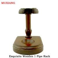 Muxiang pijp accessoires prachtige massief hout verticale type grote 1 pipe racks factory directe verkoop goedkope prijs fa0006