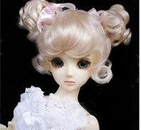 Top quality 1/6 1/4 Light Gold colour BJD Hair SD Doll Wig BJD SD
