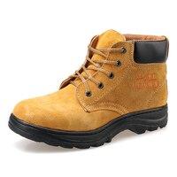AC11006 Industrial Sapatos de Segurança Sapatos Para Homens Ferramentas de Esqui Boot Biqueira de Aço Sapatos de Segurança com Biqueira de Aço Heavy Duty Tênis