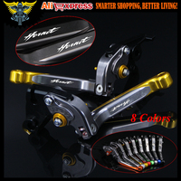 With Logo CNC Golden Red Motorcycle Brake Clutch Levers For Honda CB600F CB650F Hornet 2007