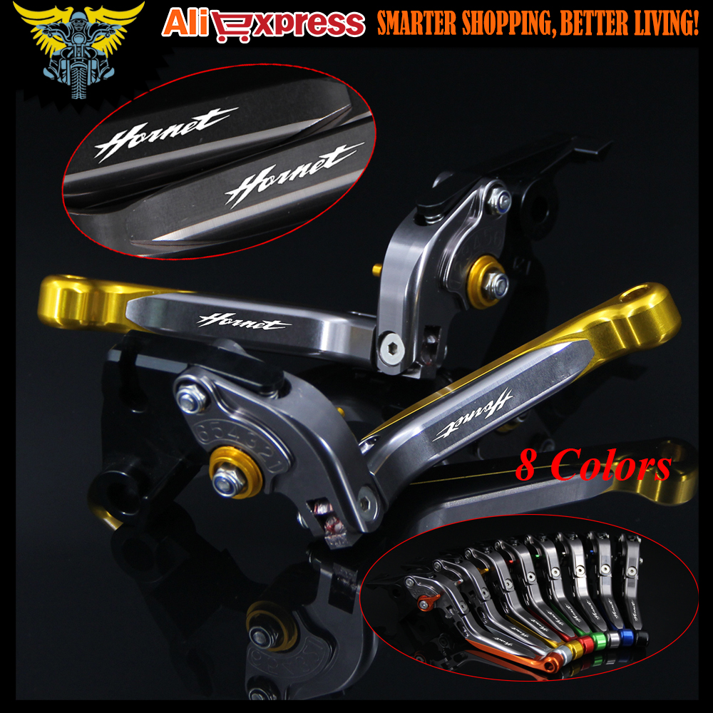 !With Logo CNC Golden Red Motorcycle Brake Clutch Levers For Honda CB600F / CB650F Hornet 2007 2013 2008 2009 2010 2011 2012