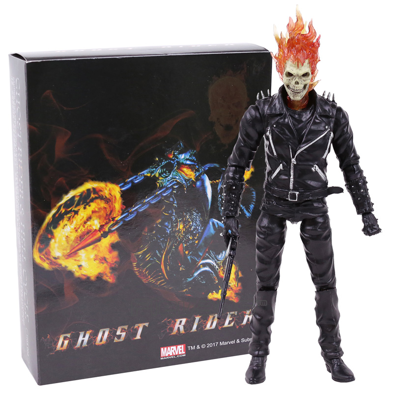 Marvel Ghost Rider Johnny Blaze PVC Action Figure Collectible Model Toy 23cm god of war ghost of sparta kratos pvc action figure collectible model toy 22cm christmas gifts