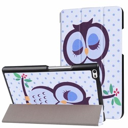 Case for Lenovo Tab 4 8 TB-8504F/8504N Cover Slim Painted Flip Stand PU Leather Case for Lenovo Tab4 Tab 4 8.0 inch Tablet+Gifts