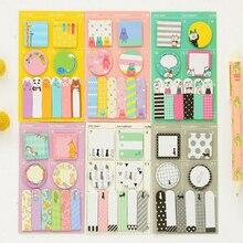 1pack/lot Colorful Cartoon Animal Self Adhesive Week Plan Memo Stationery Message Labels Office School Supplies Reward Gifts