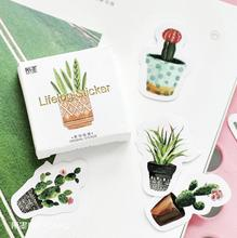 45 pcs/pack Pot Cultured Green Plants Label Stickers Decorative Stationery Stickers Scrapbooking DIY Diary Album Stick Label