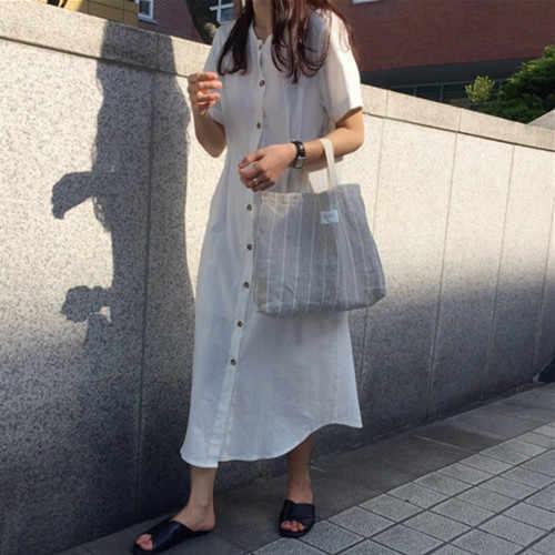新しい夏の女の子ヴィンテージ O ネックプラスサイズの女性のドレス半袖ロングシャツ女性ドレス自由奔放に生きるローブファム Vestido
