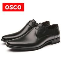 OSCO Fashion Men Shoes Genuine Leather Men Dress Shoes Brand Luxury Men S Business Casual Classic