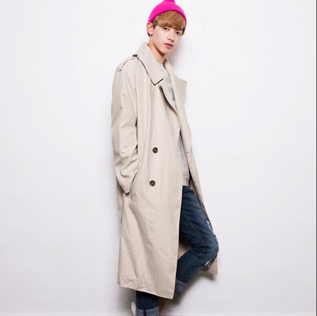 e1a617bad9c5 Oversize trench coat men autumn and spring fashion large neck pull style  ultra long mens overcoat british style long jacket -in Trench from Men's  Clothing ...