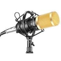 Neewer NW-800 Phòng Thu Chuyên Nghiệp Microphone Đặt: Mic + Mic + Sốc Núi + Chống gió Cap + Mic Power cáp cho Recording KTV Karaoke