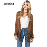 JTCWEAR New Arrival Woman Front Open Blouse Long Sleeve Tassels Lady Coffee Shirts Fashion Casual High