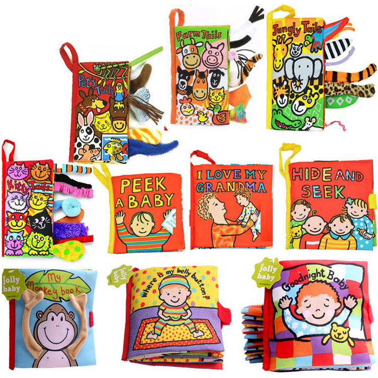 Cute kartun bayi kanak-kanak mainan awal pembangunan haiwan kain buku - Mainan untuk kanak-kanak