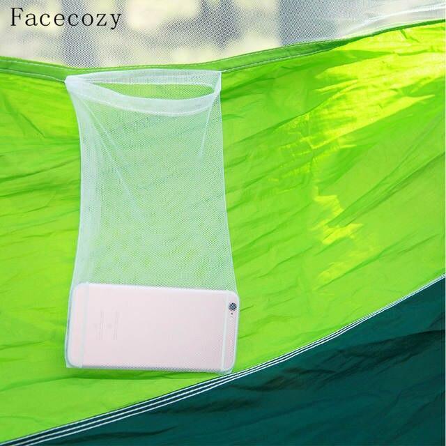 Facecozy Parachute extérieur avec moustiquaire hamac tente Portable Nylon  randonnée Camping jardin voyage chasse suspendu balançoire lit