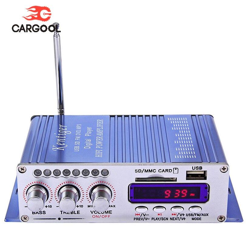 CARGOOL DC 12V Car Stereo Amplifier Hi-Fi Auto Radio Speaker 2-channel Car Music Player Digital Display feixiang fx1002a 2 x 160w 2 channel digital hi fi amplifier set silver black