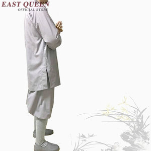Image 3 - Стандартная буддийская одежда для монахов, традиционная китайская буддийская одежда KK1601 H