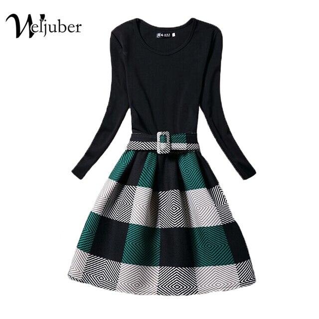 2016 New Fashion Autumn Winter Print Dress Women Brand Long Sleeve Ladies Casual Dresses Woman Hot Sell Vestido de festa