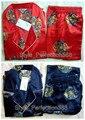 Envío Gratis hombres Chinos de Seda Rayón 2 unid Ropa de Dormir Robe ropa de dormir pijamas Conjuntos de Baño Vestido Sml XL XXL XXXL ZS002