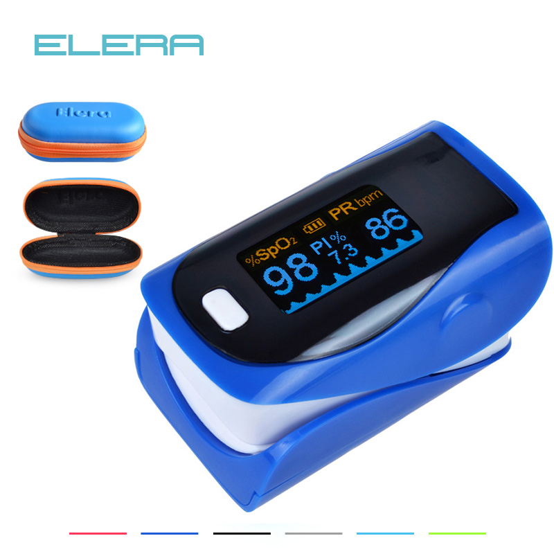 ELERA 10pcs/lot Alarming Digital finger oximeter pulse oximeter a finger, pulsioximetro SPO2 PR oximetro de dedo With Pouch elera 20pcs lot finger daubers foam ink chalk inking staining altering any craft project finger painting drawing with box