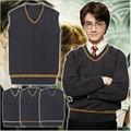 4 Styles Cosplay Costume Gryffindor Slytherin Ravenclaw Hufflepuff Vest School Uniform Harry Sweater Waistcoat