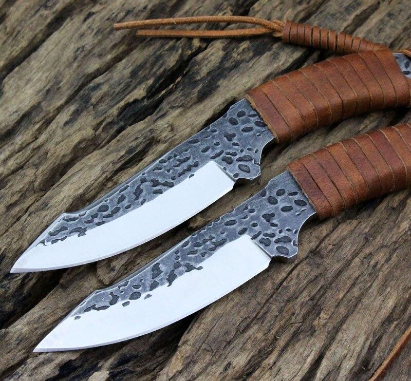 Handmade 9CR18MOV font b Tactical b font font b Knife b font Fixed Blade Survival font