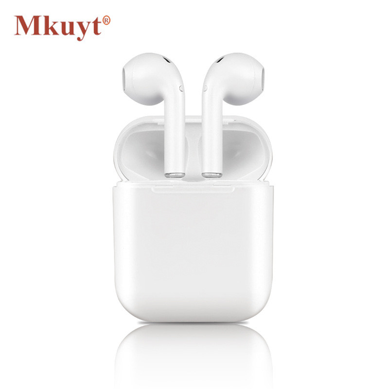 MKUYT I9S Wireless Earphone Bluetooth Headset In-Ear Invisible Earbud Headphone for IPhone 8 7 Plus 7 6 6s 5 and Android PK I7 headset earphone in ear headphone earbud control with mic for iphone 6 6s samsung galaxy s6 xiaomi earphone smartphone